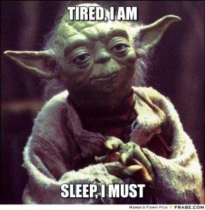 Sleepy Yoda