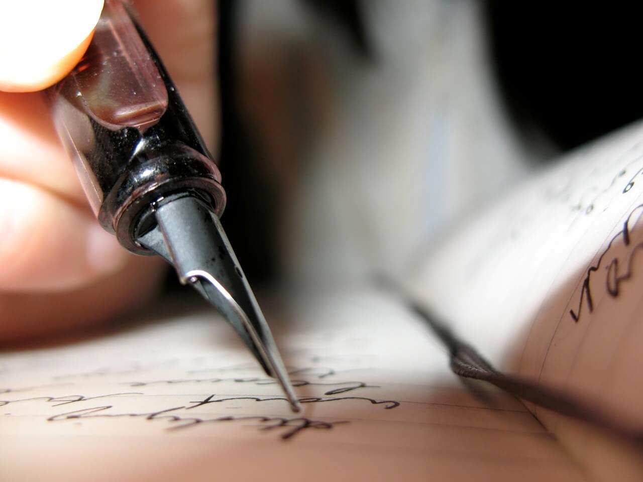 Journal Writing Close up