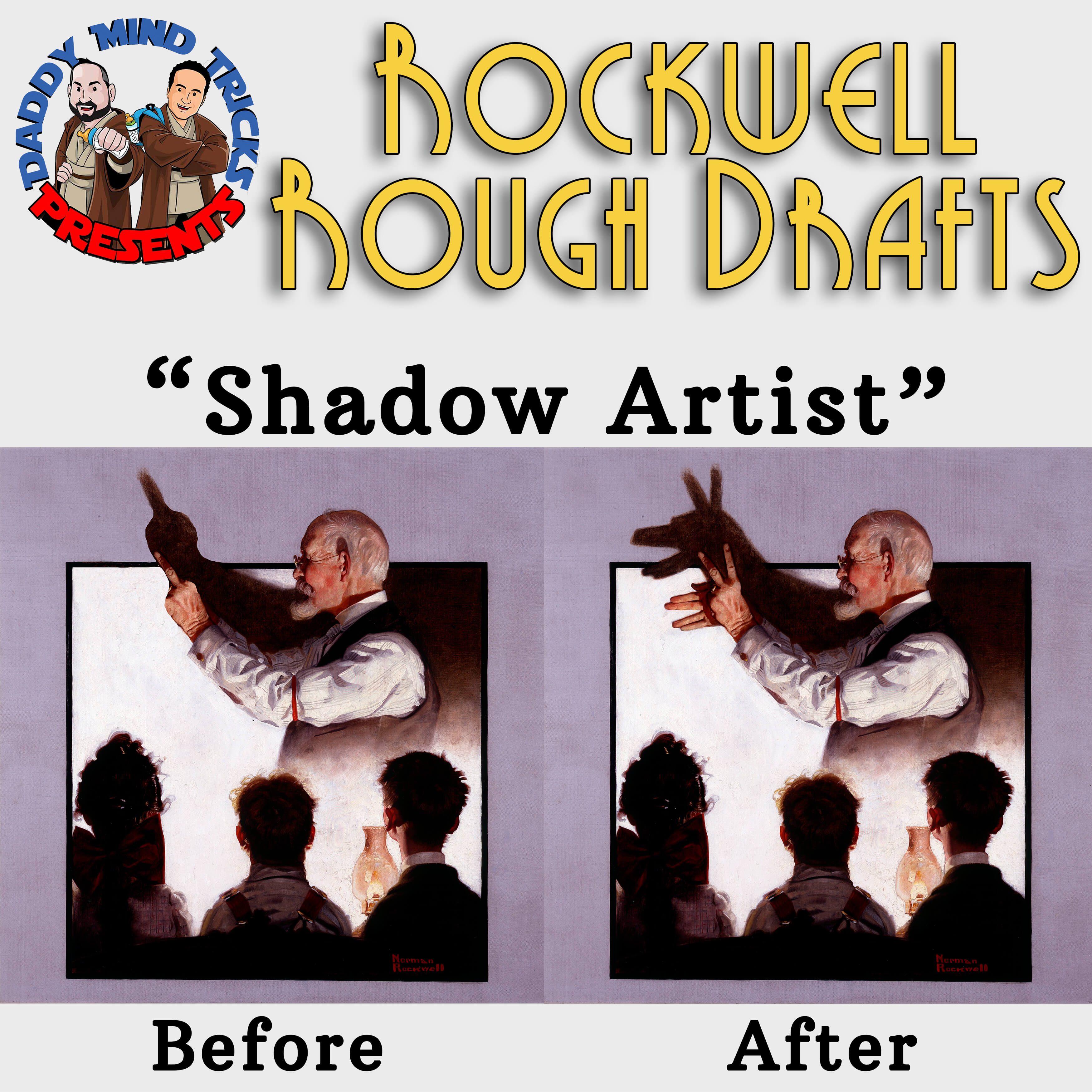 Norman Rockwell rough drafts