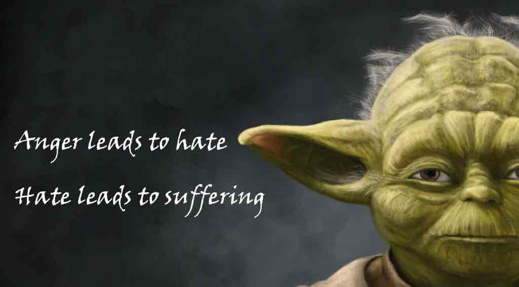 Anger leads to hate. Hate leads to suffering. - Yoda Secret to Finding More Time