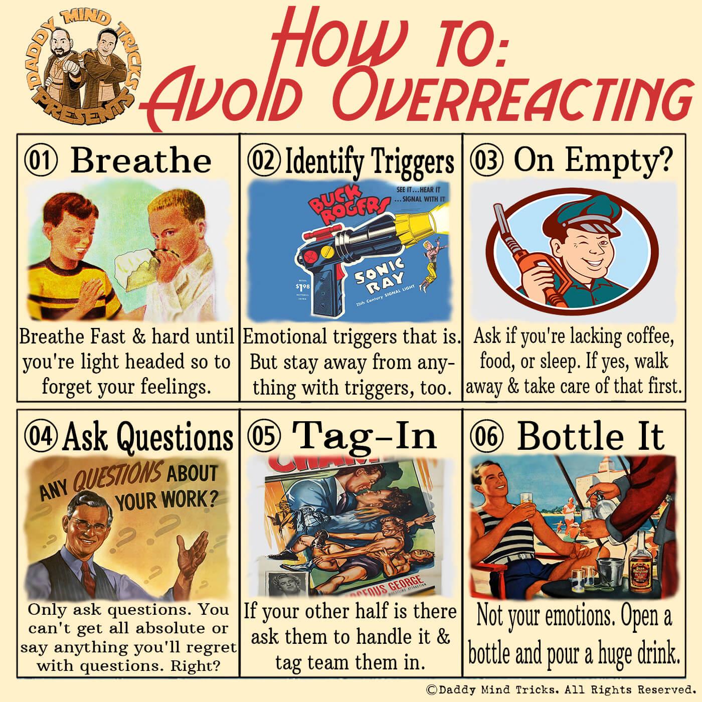 how to avoid overreacting